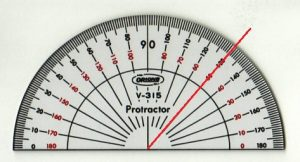 分度器50度